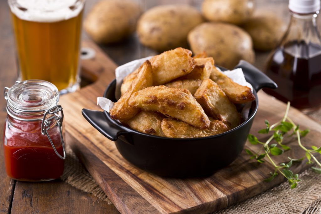 Beer Battered Chips & BBQ Dip