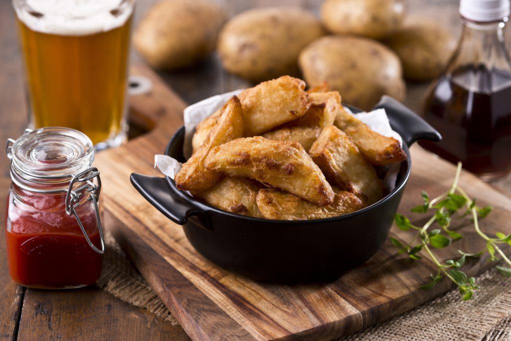 Beer Battered Chips & BBQ Dip