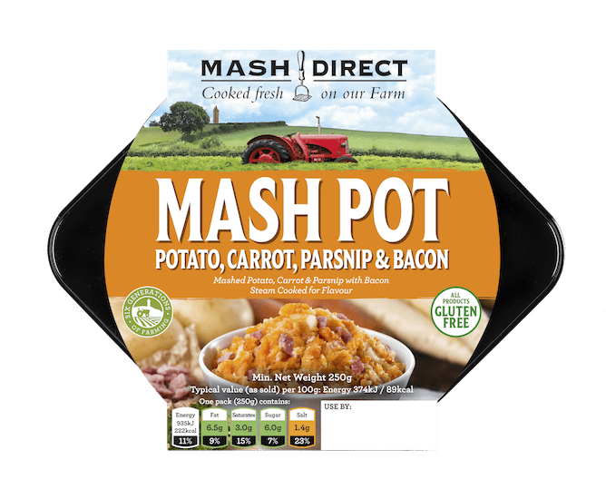 Mash Pot - Mashed Potato, Carrot & Parsnip with Bacon