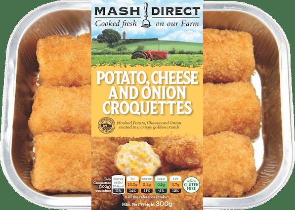 Potato, Cheese and Onion Croquettes