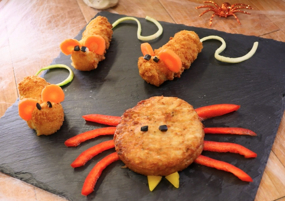 Halloween - Rosti Spiders & Croquette Mice!