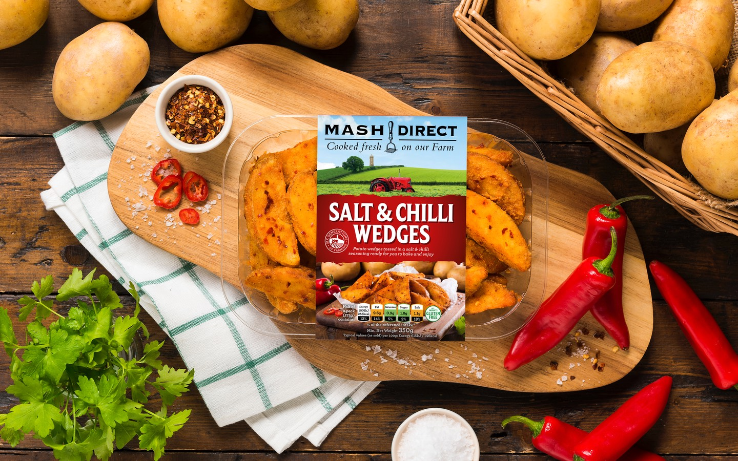 Mash Direct Launch New Salt & Chilli Wedges