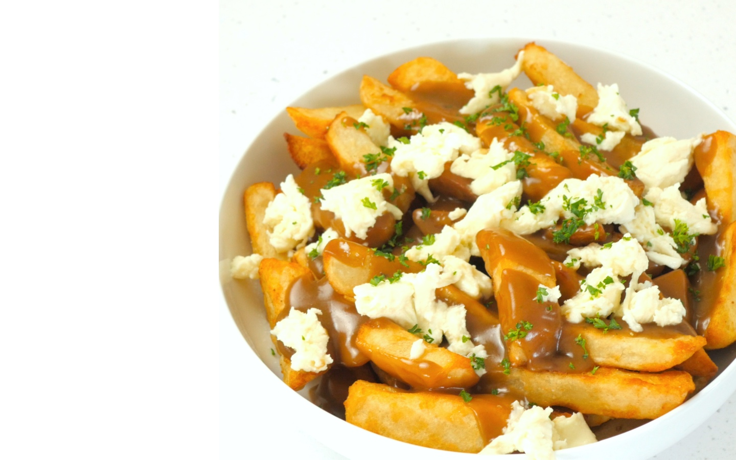 Canadian Poutine with Beer Battered Chips